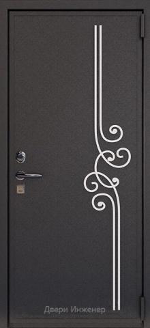 Дверь с ковкой DR272
