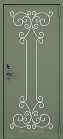 Дверь с ковкой DR273